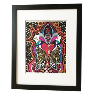 "Framed Abstract ""Mirror, Mirror Who Am I?"" Mixed-Media by Laurel Rosenberg For Sale"