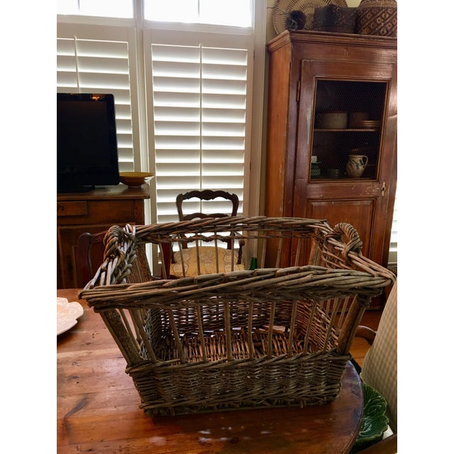 Vintage French Wicker Boulangerie Bakery Bread Basket For Sale - Image 9 of 9