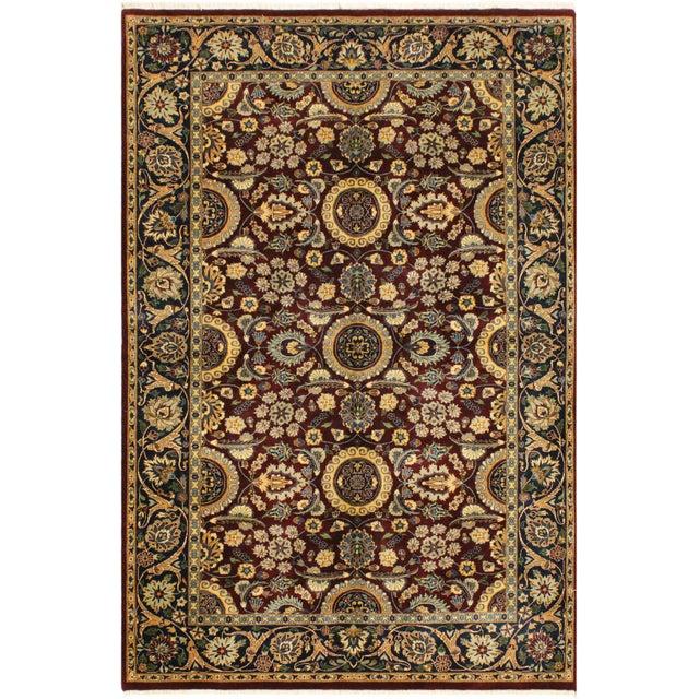 Blue Agra Tabriz 16x18 Veg. Pak-Persian Lisabeth Purple/Blue Wool Rug - 4'7 X 7'3 For Sale - Image 8 of 8