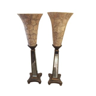 John Richard Torchiere Lamps - a Pair For Sale