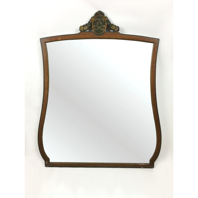 20th Century Art Deco Wooden Manor Mirror For Sale In New York - Image 6 of 6