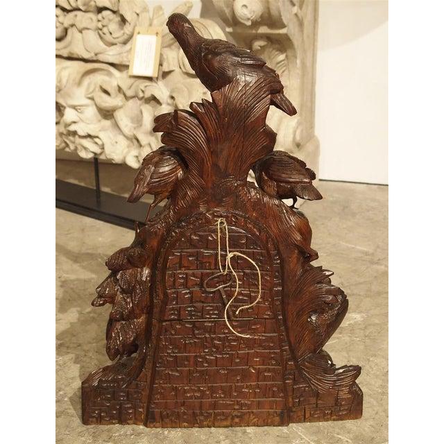 Antique Carved Black Forest Mantel Clock, Circa 1885 For Sale - Image 9 of 13
