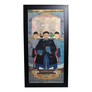 Antique Chinese Ancestor Portrait For Sale