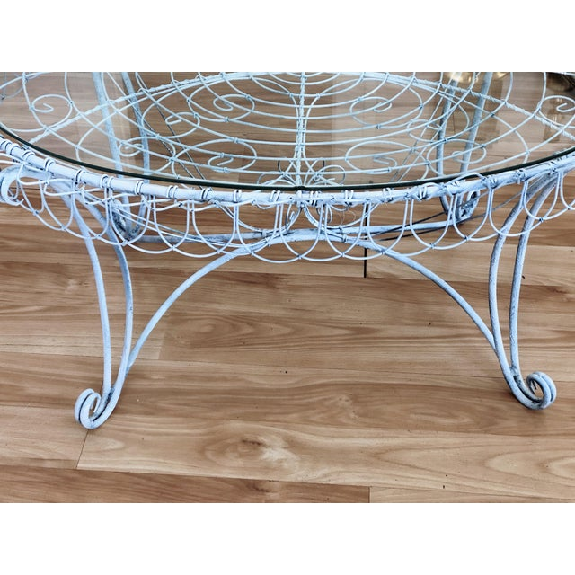 Shabby Chic Wire Tray Table For Sale In Saint Louis - Image 6 of 7