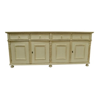 Pine Painted Four Door Sideboard