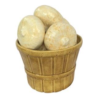 Vintage Ceramic Onions in Basket