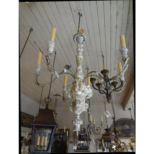 19th Century Italian Wood and Iron Chandelier For Sale - Image 11 of 11