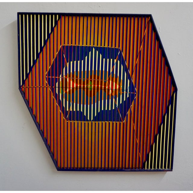 Abstract Painted Relief by Louis Nadalini For Sale In Palm Springs - Image 6 of 6
