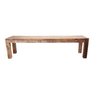 White Wash Teak Bench