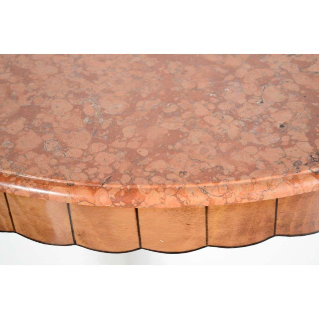 Lacquer Art Deco Exotic Marble Top Console Table For Sale - Image 7 of 9