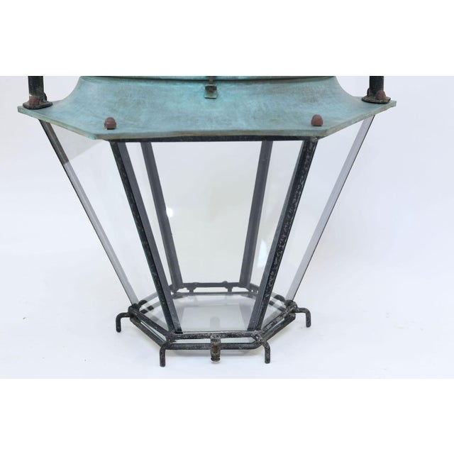 French Large Copper French Lantern For Sale - Image 3 of 11