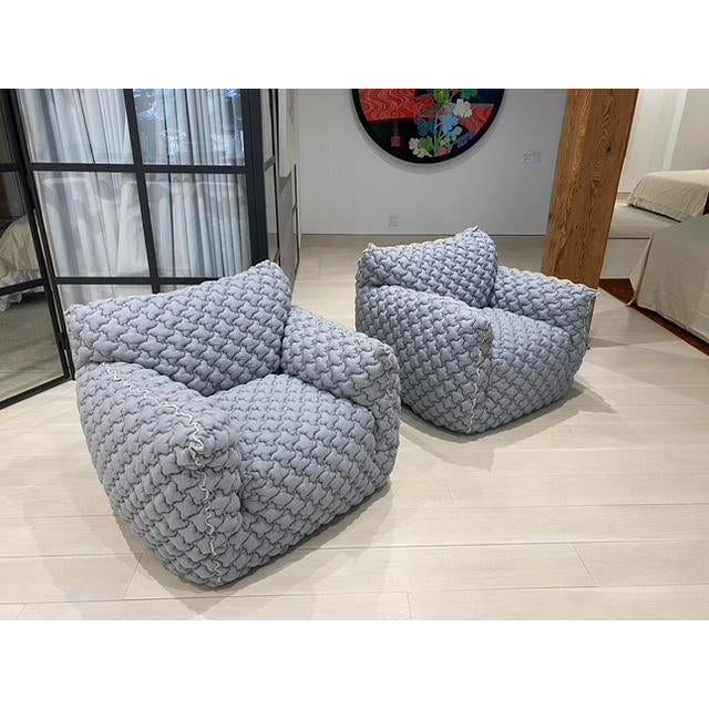 2020s Italian Gervasoni Nuvola Armchairs - a Pair For Sale - Image 5 of 10