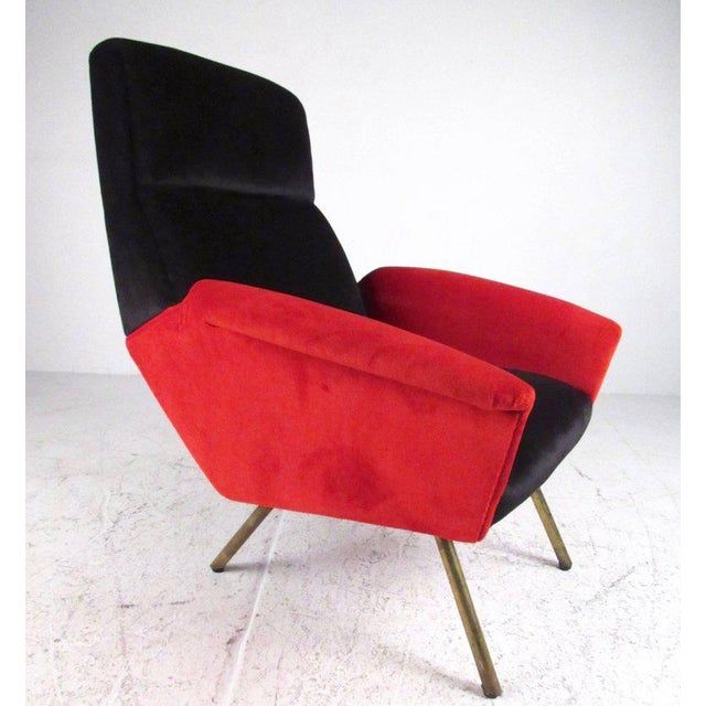 Brass Italian Modern Sculptural Lounge Chairs - A Pair For Sale - Image 7 of 11