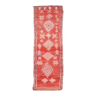Vintage Berber Moroccan Runner with Tribal Style