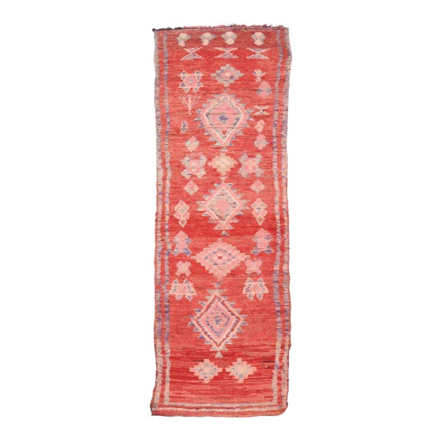 Vintage Berber Moroccan Runner with Tribal Style - Image 1 of 5