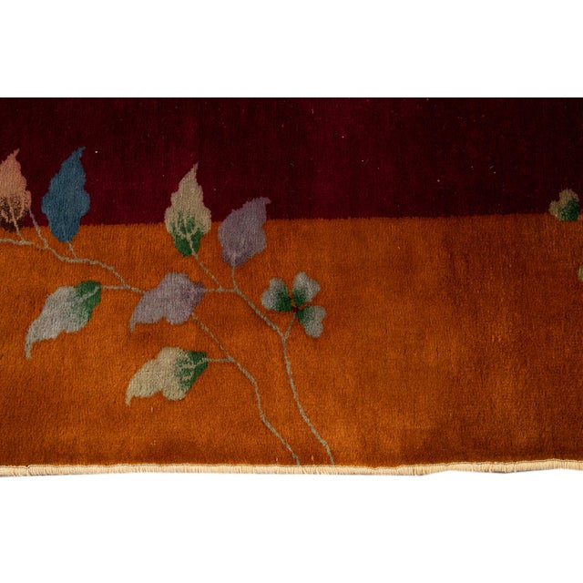 Early 20th Century Antique Art Deco Chinese Wool Rug 9 X 11 For Sale - Image 10 of 13