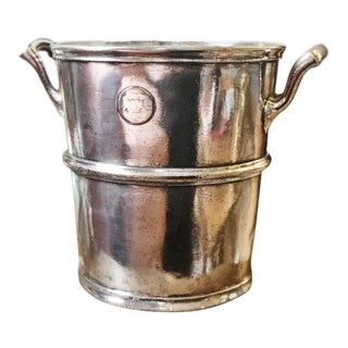 1917 Silver Plated Champagne Bucket From the Ambassador Hotel NYC For Sale