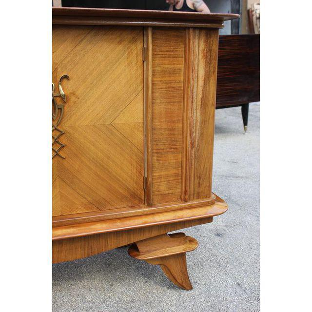 Brass French Art Deco Rosewood sideboard / Credenza Circa 1940s For Sale - Image 7 of 10