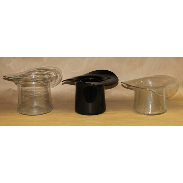 Don Shepherd for Blenko Glass Top Hat Ice/Wine Buckets - Set of 3 - Image 10 of 10