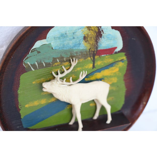 Kitschy Wood Stag Cameo Wall Art - Image 6 of 6