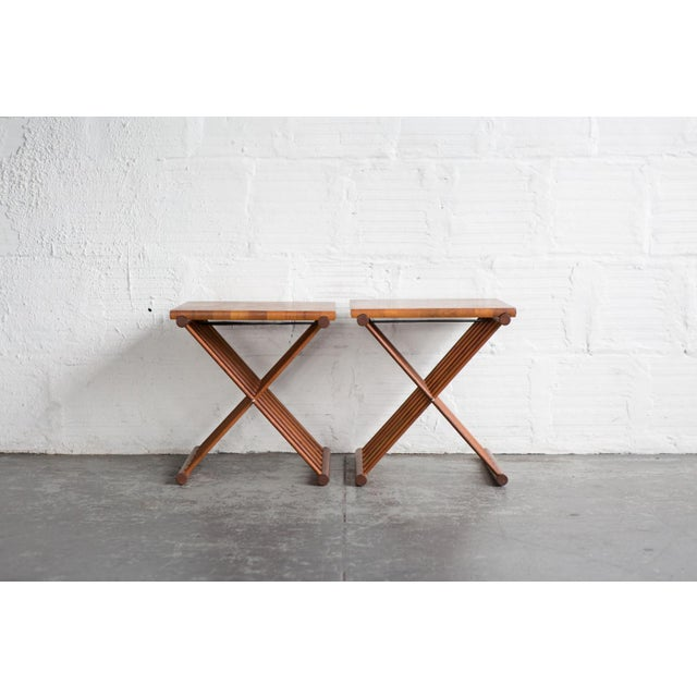 Folding End Tables - Set of 2 - Image 2 of 10