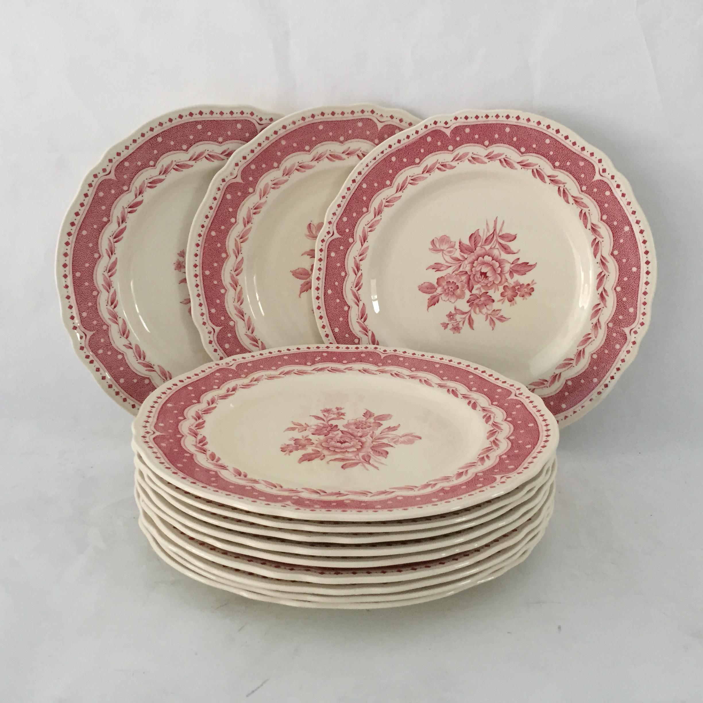 Vintage Avon Pattern Grindley-England Dinner Plates - Set of 12 - Image 5 of & Vintage Avon Pattern Grindley-England Dinner Plates - Set of 12 ...
