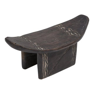Early 20th Century African Ashanti Tribe Head Stool For Sale