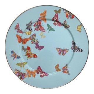 Mackenzie Childs Blue Butterfly Garden Serving Appetizer Tray