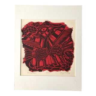 Signed Colored Block Print 67/100, Perry Straton For Sale