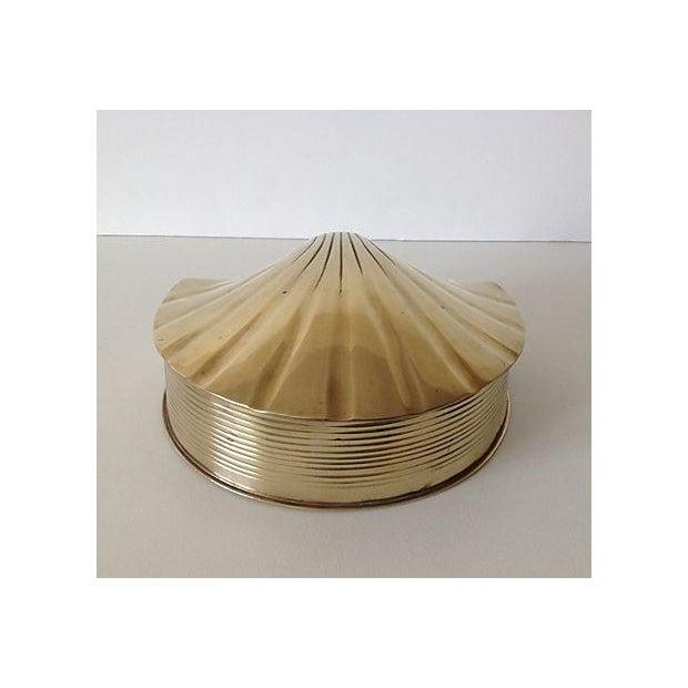 Brass Fanned Shell-Shaped Keepsake Box - Image 3 of 8
