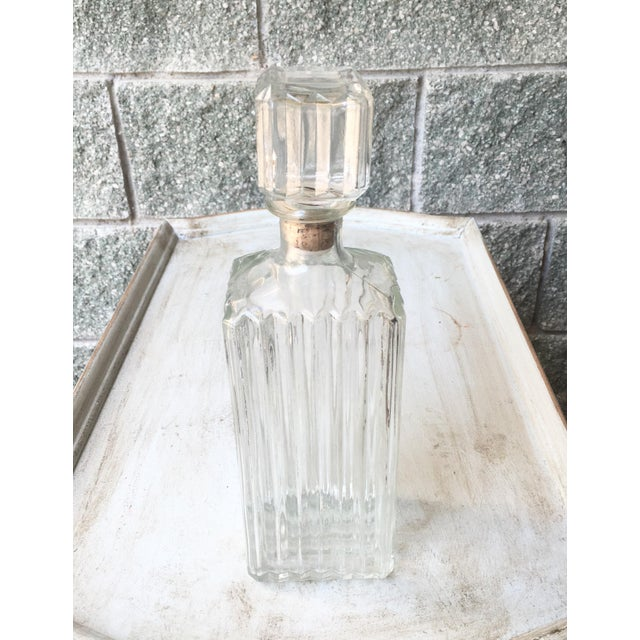 Art Deco Prohibition Era Tall Glass Liquor Bottle - Image 2 of 8