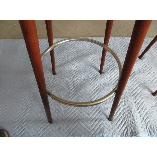 Danish Modern Floating Top Bar Stools - A Pair - Image 5 of 10