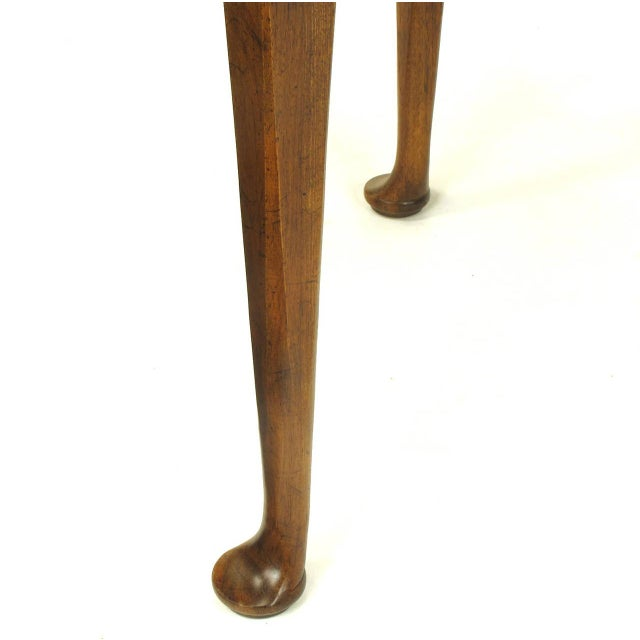 "Baker Furniture ""Milling Road"" Figured Walnut Regency Side Table - Image 9 of 10"