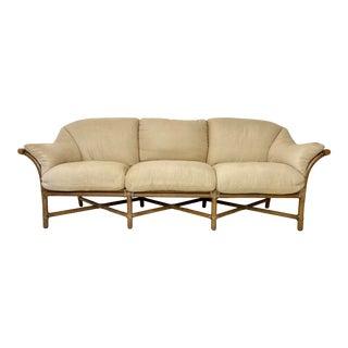Vintage McGuire Rattan Sofa For Sale