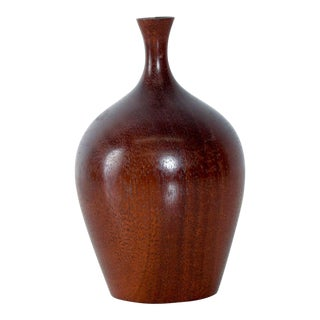 Sculptural Walnut Weed Pot After Rude Osolnik, Mid-Century Modern For Sale