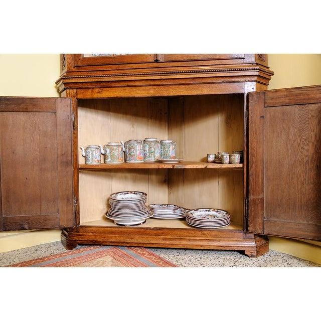 Wood Antique Oak Corner cabinet For Sale - Image 7 of 10