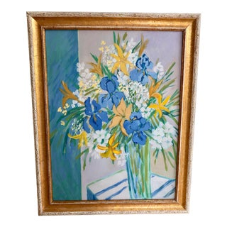 Still Life Painting With Lillies For Sale