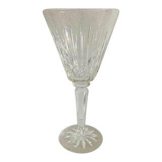 Vintage 1990s Lenox Pattern Cut Crystal Wine Glass For Sale