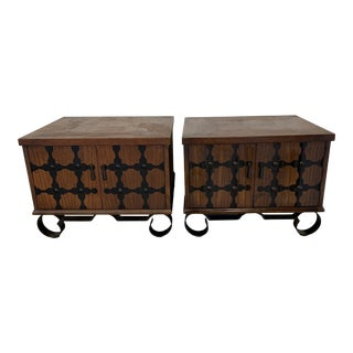Lane Mid Century Spanish Style End Tables For Sale