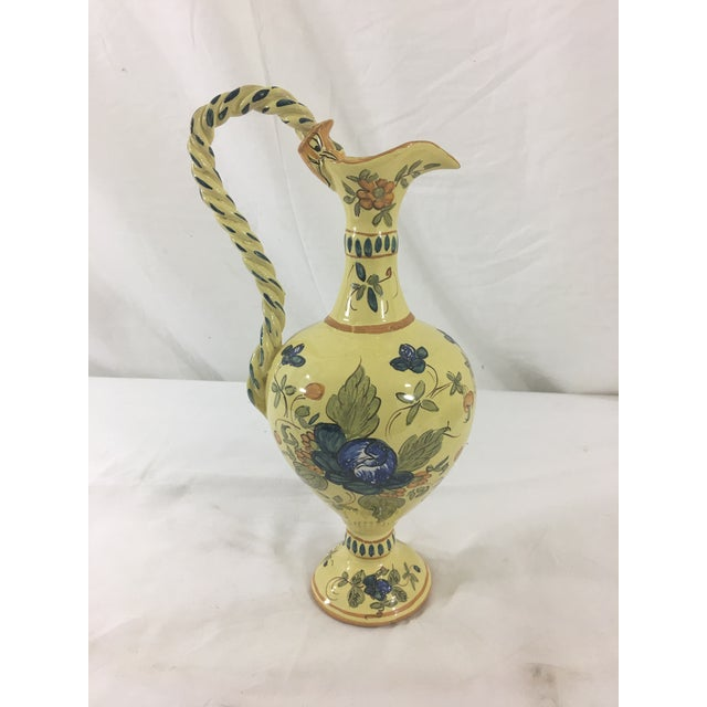 Early 20th Century Martes Toulousain Yellow Pitcher For Sale - Image 5 of 5