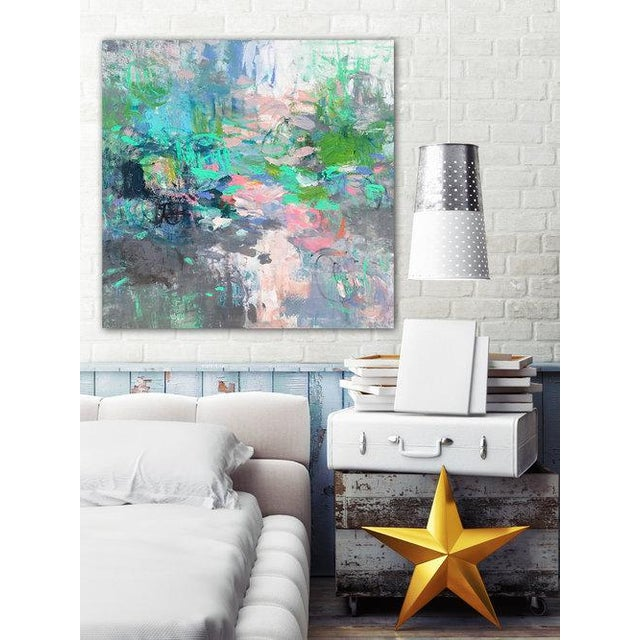 Gallery wrapped canvas with clean white sides. Ready to hang. Framing optional. Signed by artist