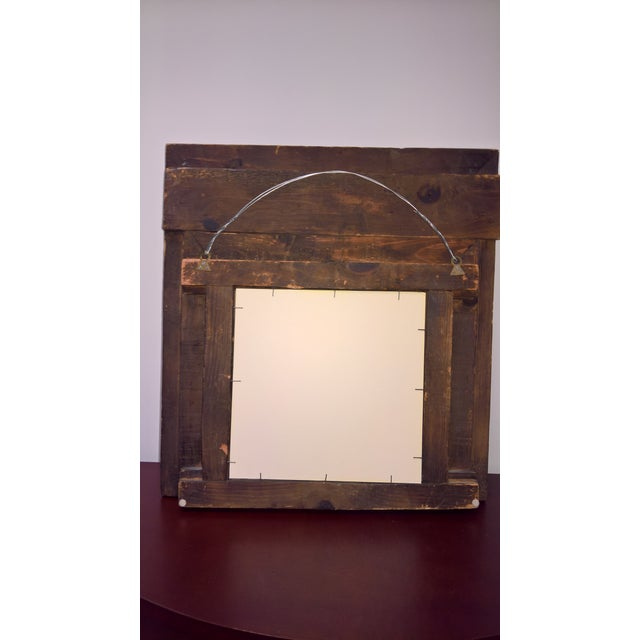 Wood Vintage Afghan Carved Wooden Wall Shutters & Mirror For Sale - Image 7 of 7