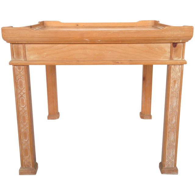 Century Furniture Knotty Pine Side Table - Image 1 of 6