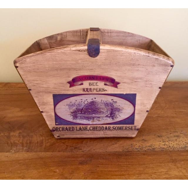Vintage Mid-Century English Wooden BeeKeeper Basket For Sale - Image 6 of 6