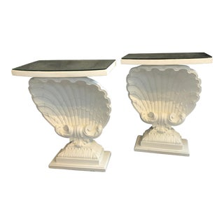 Vintage Plaster Shell Consoles - a Pair For Sale
