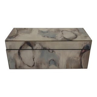 Decorative Abstract Lacquered Box For Sale