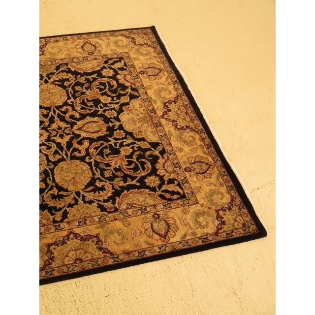 High Quality 100% Wool Black & Gold 6' x 9' Area Rug Age: Approx: 20 Years Old Details: Thick Wool Pile Originally Sold By...