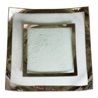Antique Annieglass Platinum Roman Tray Set For Sale