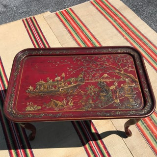 1950s Vintage Japanese Red Lacquer Sushi Table Preview