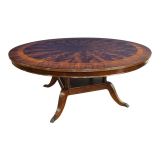 Regency Leighton Hall Made-To-Order Round 6 Ft. Mahogany Dining Table For Sale